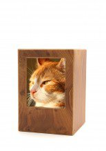 Foto urne hout FU02-xs - Pet Funeral Center Kortrijk